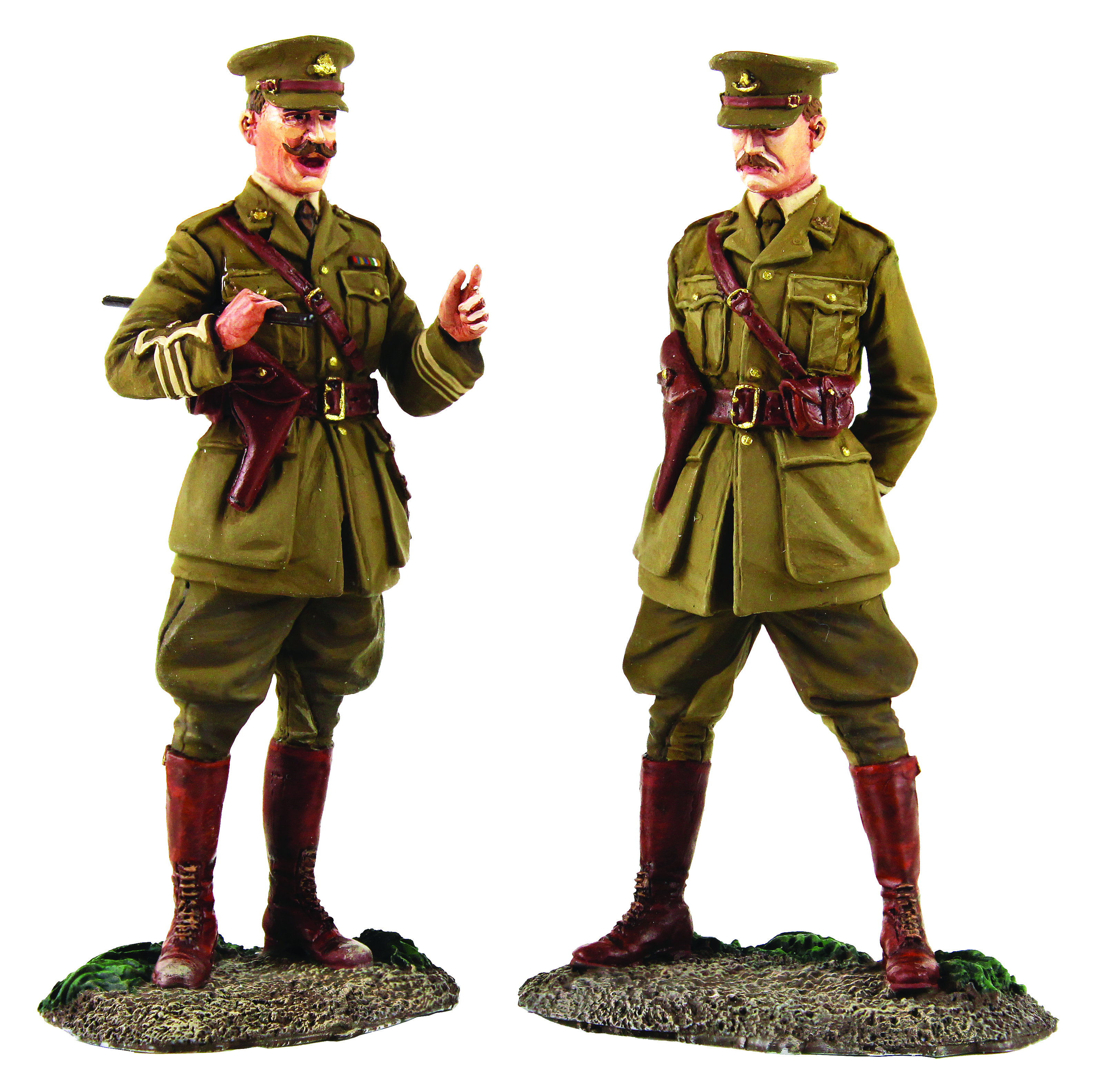 """""""The Conference"""" British Major and Lieutenant Meeting, 1915-18 - 2 Piece set Limited Edition of 500 sets"""