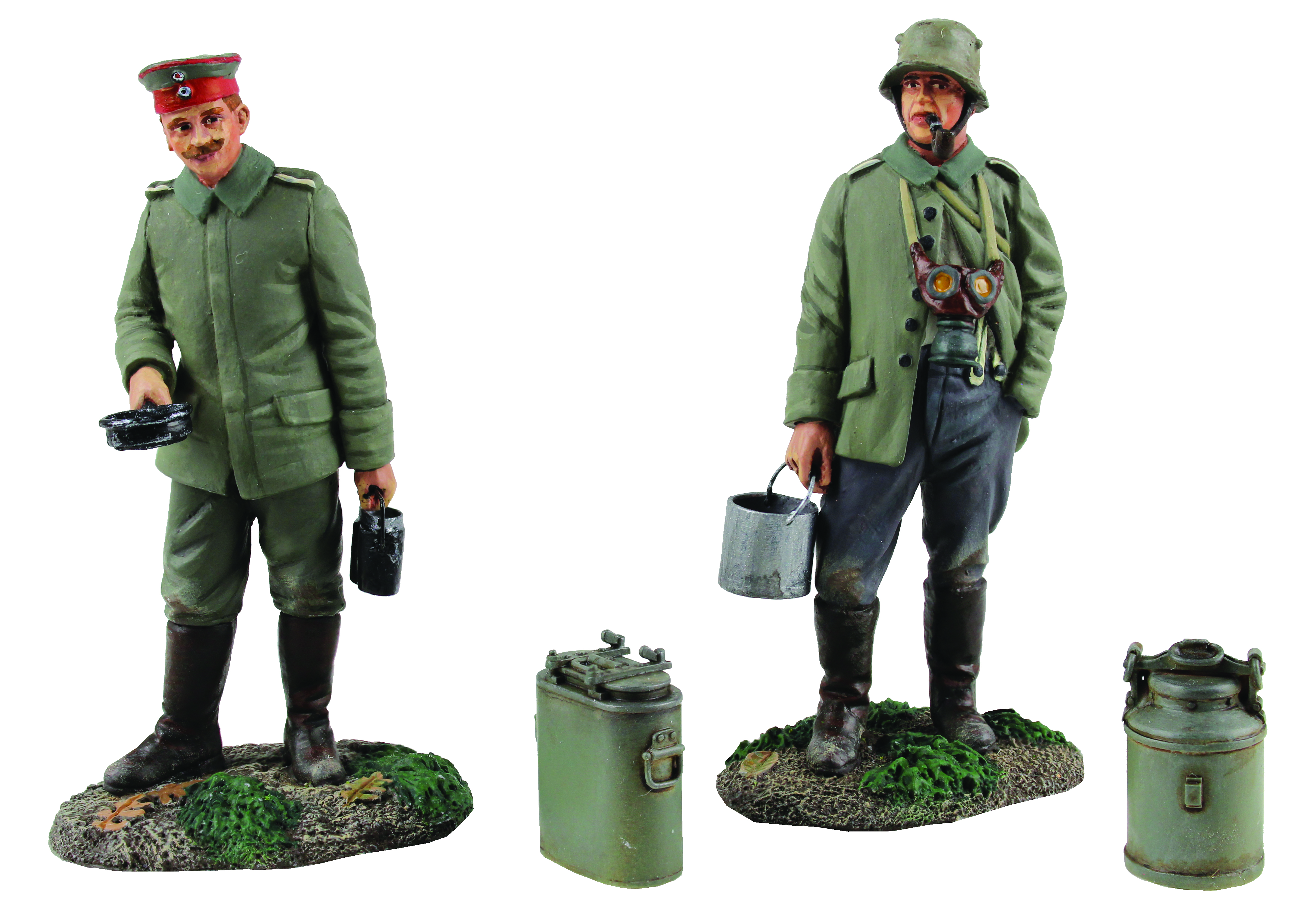"""""""Whats on the Menu Tonight?"""" German Infantrymen with Mess Equipment - 4 Piece Set Limited Edition of 400 Sets"""