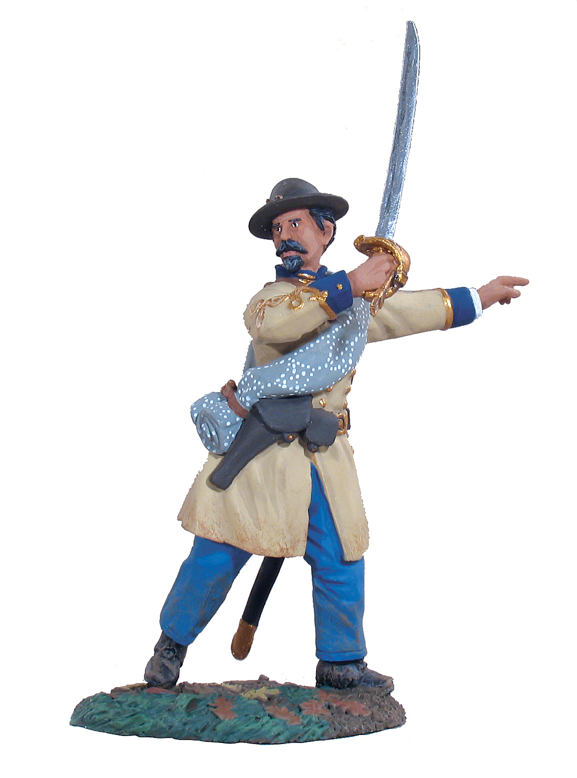 Confederate Infantry Officer Advancing #2