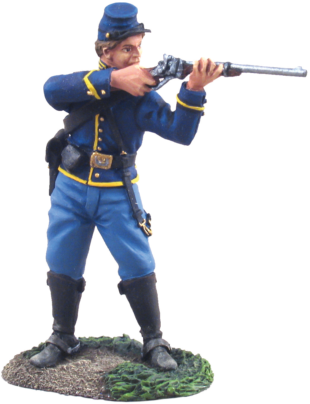Union Cavalry Trooper Dismounted Standing Firing No. 1