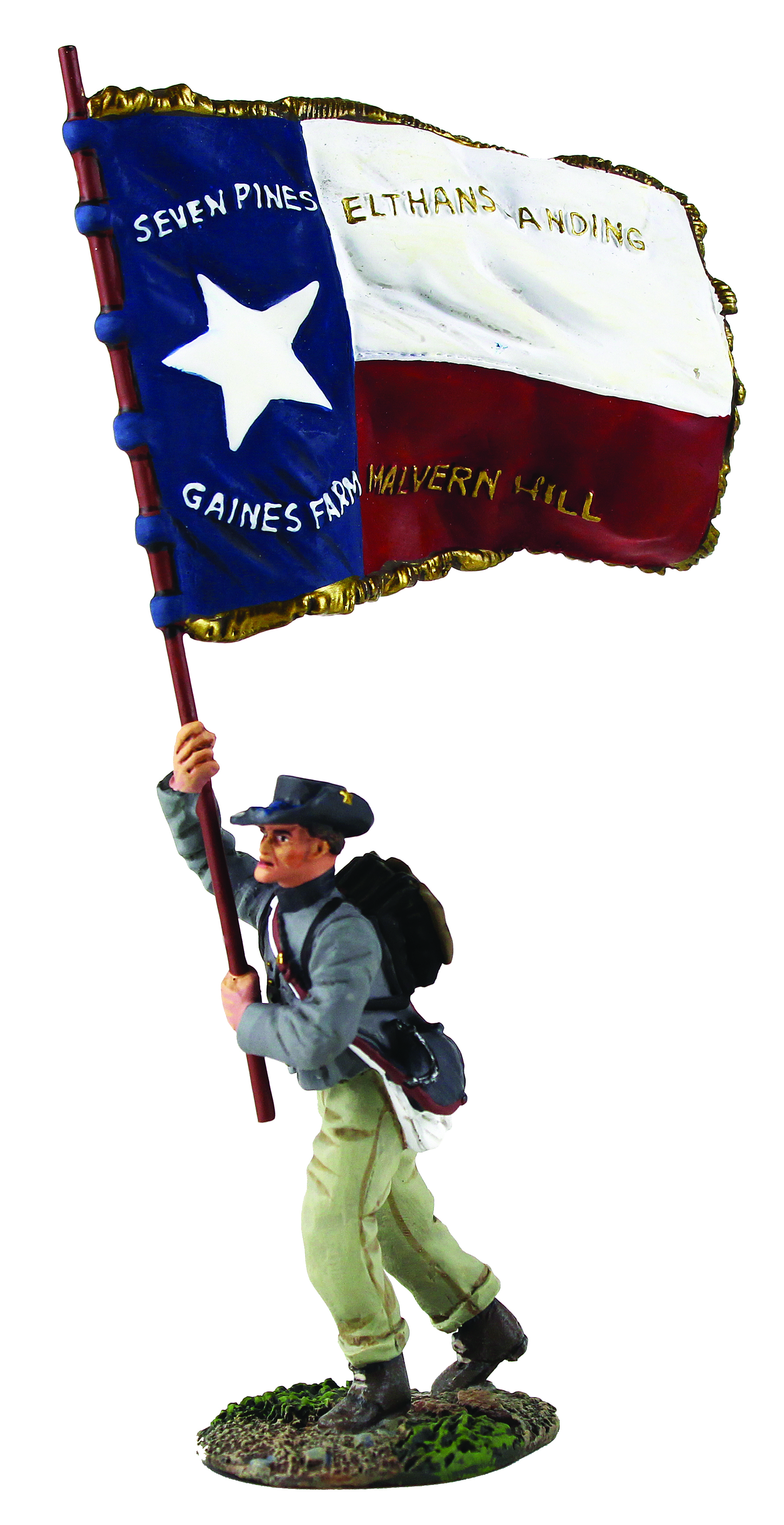 Confederate Infantry Color Sergeant Charging - 1st Texas Flag No.1