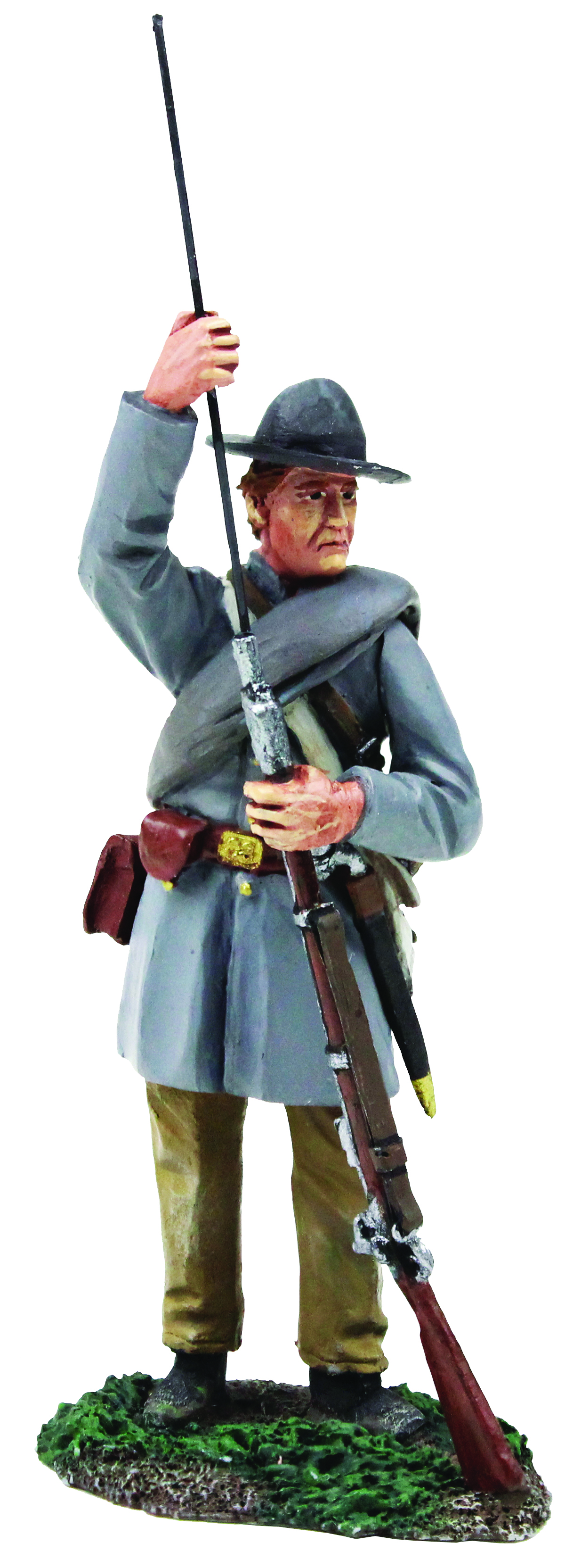 Confederate Infantry Standing Ramming Cartridge in Frock Coat No.1