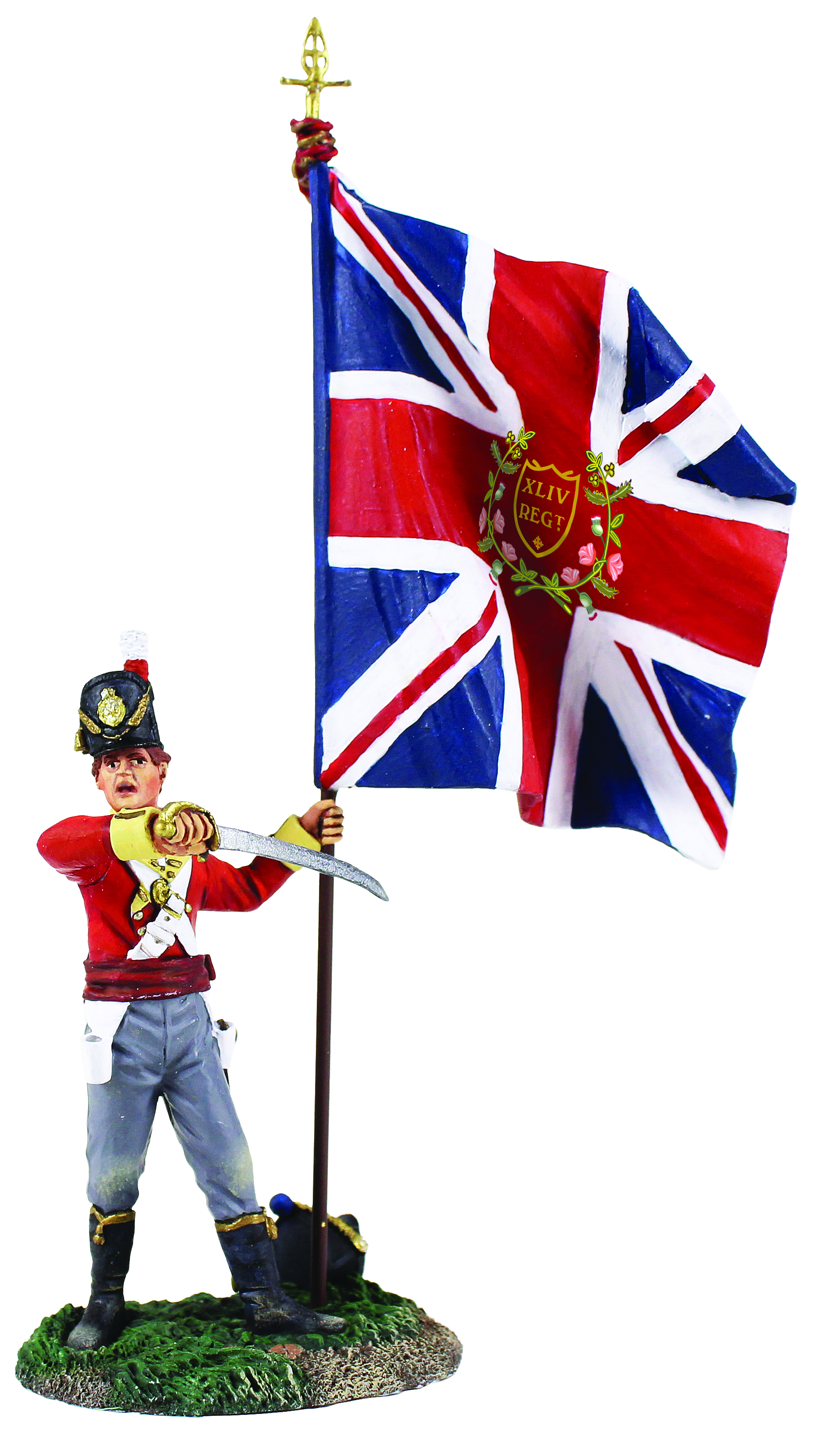 British 44th Regiment Ensign with King's Colour No.2