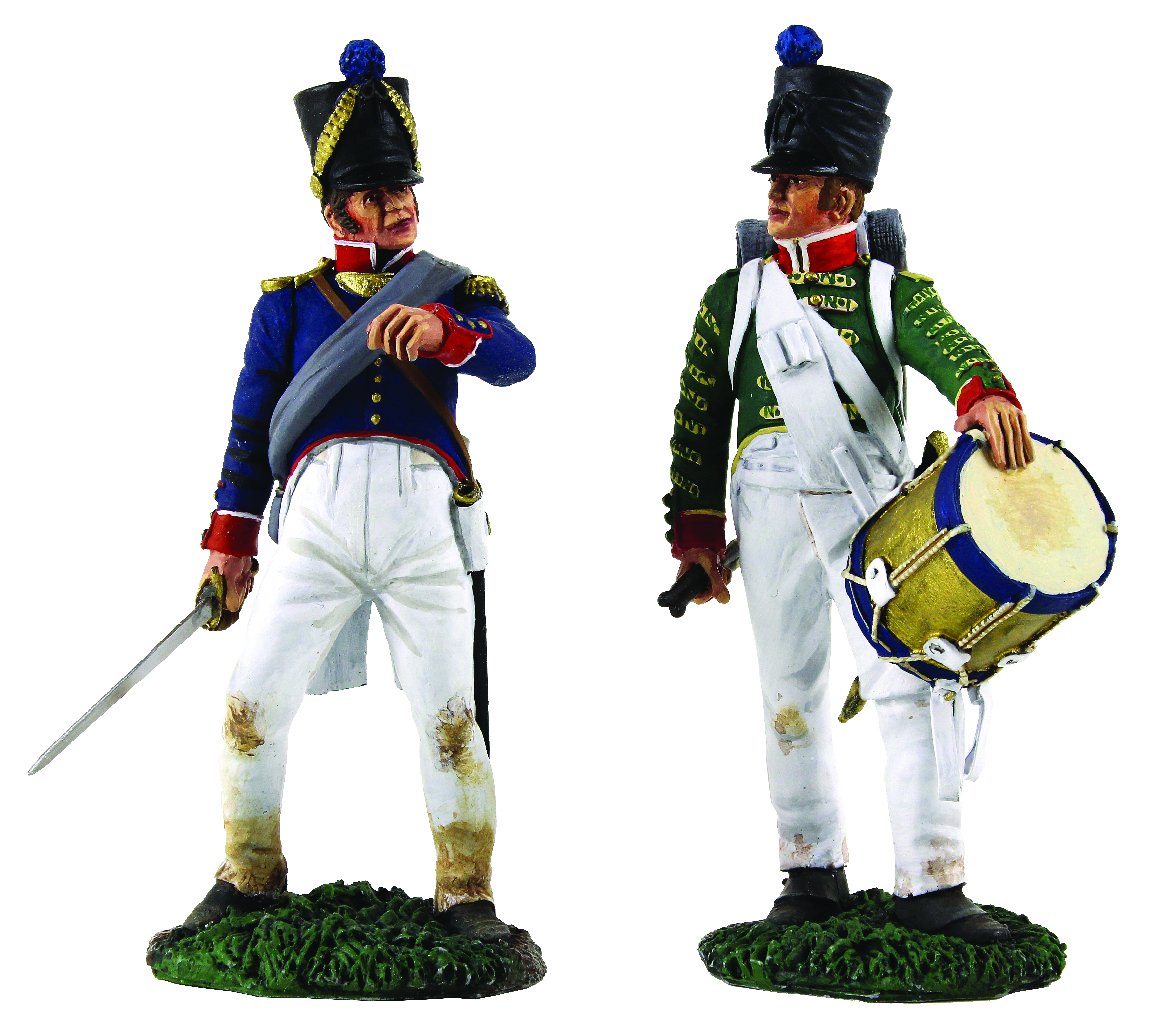 French Infantry Command Set - French Infantry Drummer No.2 & French Line Infantry Officer No.2