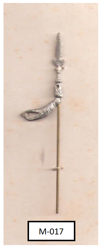 Right arm with halberd (standing yeoman of the guard)